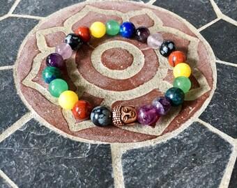 Chakra bracelet, Buddha Bracelet, Healing Bracelet
