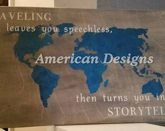 Traveling Storyteller sign