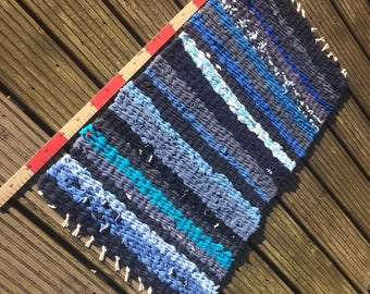 Shades of Blue Rag Rug