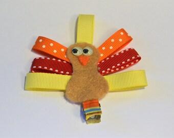 Thanksgiving Turkey Hair Clip