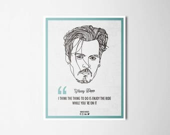 Ilustrattion-Influencers Jhonny Depp