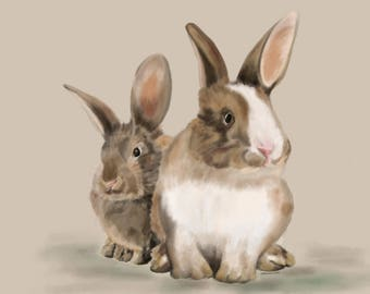 Animal Painting, Rabbits