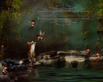 Fairy Pond Backdrop