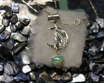 1000-32 Sterling Necklace with Ethiopian Opal