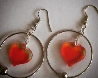 Earrings with Hearts