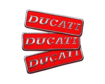 3pcs Ducati Motorcycle Embroidered Iron On Patch
