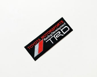 TRD Toyota Motor Sports Racing Car Automobile Applique Iron on Patch Sew