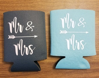 Mr and Mrs Can Cooler / Wedding Can Cooler