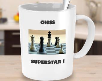 chess coffee mug- novelty chess player gift idea-funny chess gift