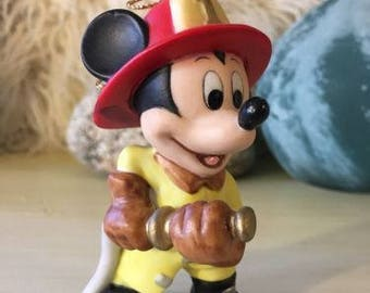 Walt Disney MICKEY MOUSE Fireman Firefighter Christmas Ornament