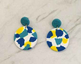 Circle drop earrings - 'Taylor'