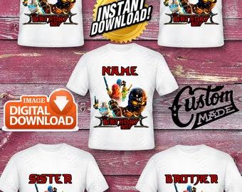 Ninjago Family Iron On Transfer, Ninjago Family Birthday Shirt DIY, Ninjago Family Printable, Ninjago, Personalize, Turnarround 12 Hours