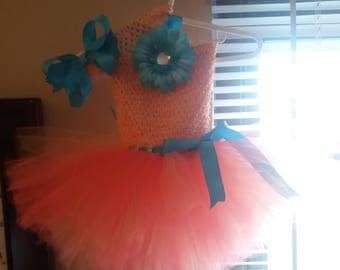 Handmade Tutu Dress & headband set