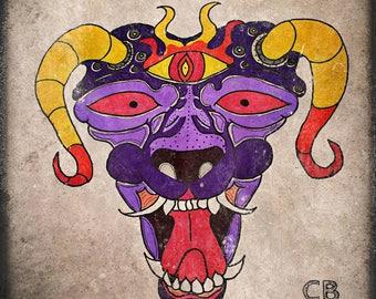 Demon Dog on canvas