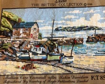 Needlepoint Tapestry -  Mullion Cove, Cornwall