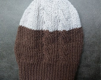 Hand knit  hat, very cozy