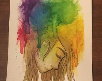 Colors of My Mind original watercolor painting