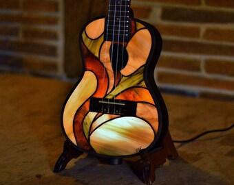 Stained glass Tiffany ukulele