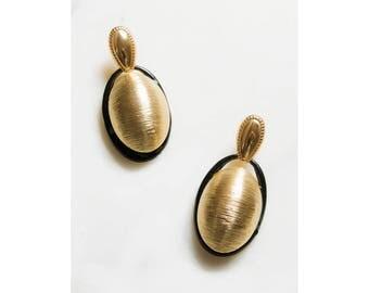 Oversized Earrings . 1980s Earrings . Statement Jewelry