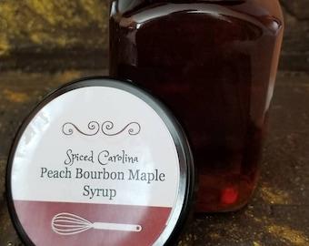 Peach Bourbon Maple Syrup