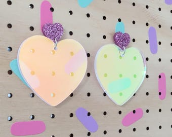 Unicorn heart dangles