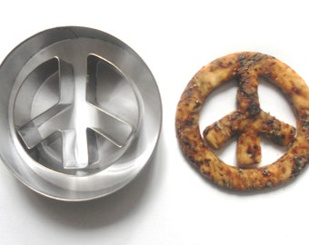 Peace Sign Cookie Cutter Fondant Pastry Biscuit Candy Fruit Metal Cutter mold