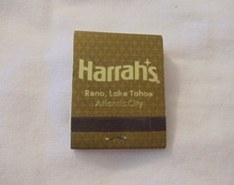 Harrah's Casino Las Vegas, Reno, Atlantic City Matchbook (unstruck)
