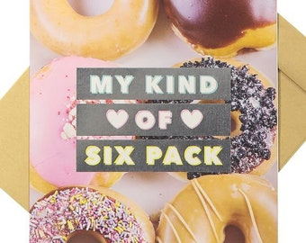 My Kind of Six Pack - Blank Card