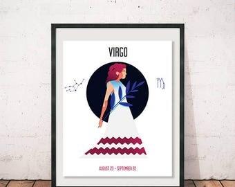 Virgo - Zodiac Print