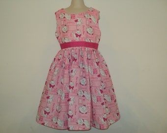 NEW Handmade Disney Aristocats Marie Pink Dress Custom Size