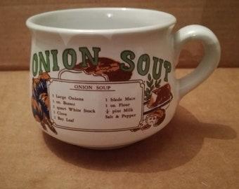 Vintage onion soup cup