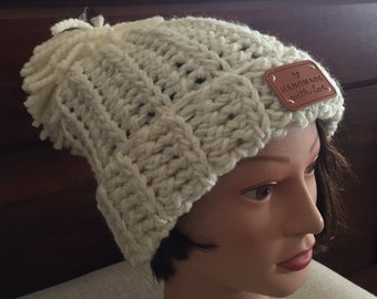 Chunky hat inspired by Chloe Kim USA olympic hat