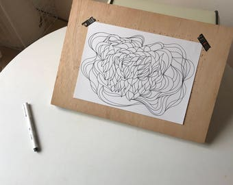 Obsract wave drawing