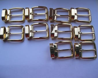 BELT BUCKLES solid BRASS 30 mm (1.18'') made in Italy x 10