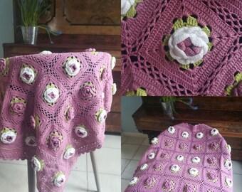 Crocheted Baby Blanket Vintage New