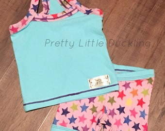Cami/tank with coordinating shorts jammie set
