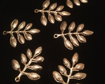 Lot of 5 Small leaf Pendants/charms