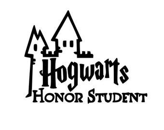 Harry Potter Hogwarts honor student vinyl decal
