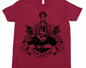 Frida Viva La Vida Kids Tee Shirt Size 2-12