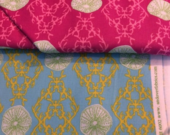 Full Moon Lagoon Fat Quarter collection - 2 fat quarters, out of print and hard to find
