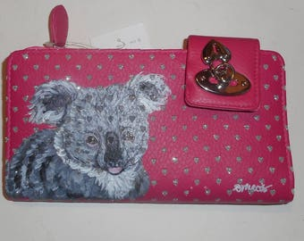 Koala Bear Hand Painted Women's Leather Wallet
