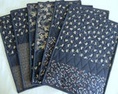 Japanese Quilted Placemats - set of 8 - Reserved for Kim