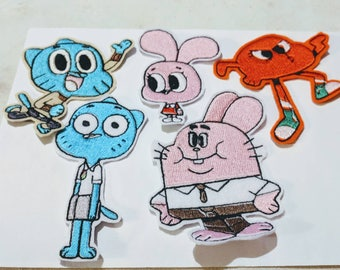 Gumball embroidered patch iron or sew