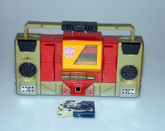 Transformers G1 Blaster with Overkill Cassette Tape Lot Vintage 1984