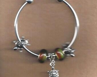 ON SALE Turtle Charm Bracelet