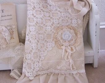 Lace Tote Bag, Book Bag, Handmade Bag, Purse