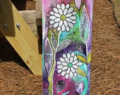 Whimsical Intuitive Painting Daisy Flower Art by Carol Iyer