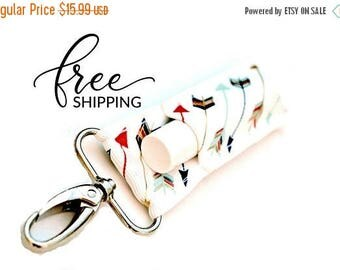 ON SALE LippyClip™ Lip Balm Holder for Chapstick, Burt's Bees, etc.    Navy Coral Gold Mint Arrows Holder for Chapstick