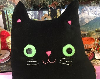 Cat shaped cushion - Mr Patrick Whiskers