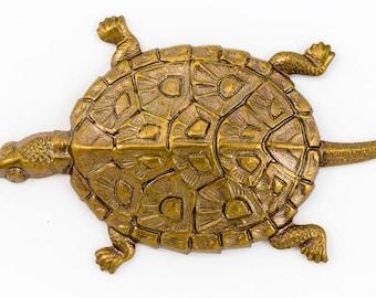 45mm Antique Brass Turtle #1623A